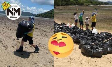 4名小朋友無懼高溫、大嶼山清58袋垃圾!自發行動原因超暖心、網民激讚!