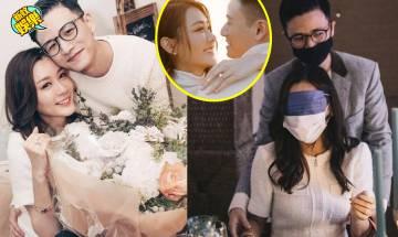 陳詩欣被未婚夫口罩蒙眼求婚 好笑又感動:足夠我記一輩子