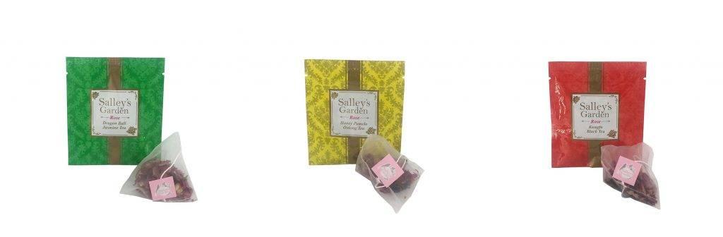 玫瑰中國茶系列選用三角茶包,立體空間感較大,有效保留完整茶葉及玫瑰天然花瓣,將茶葉原味呈現得更完美。