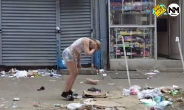 YouTuber拍費城街頭實況 路人彎腰走!網友:從未看過這情景