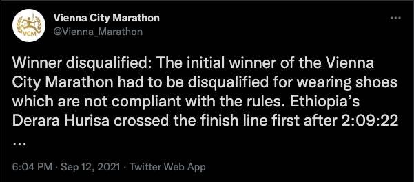 (圖片來源:Vienna City Marathon@Twitter)