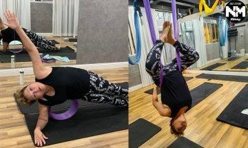 67歲肥媽凌空倒吊做瑜伽突破自己 網友:要量力而為唔好勉強