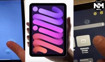 iPad mini 6打直用問題多? 外國網友投訴按壓屏幕出現不明閃爍 Apple回應「啫哩芒」問題