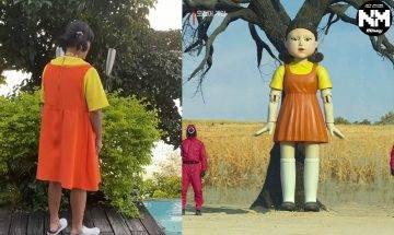 魷魚遊戲掀熱潮 台灣著名男星扮「巨型娃娃」裝扮超嚇人 網友:好似紙紮公仔